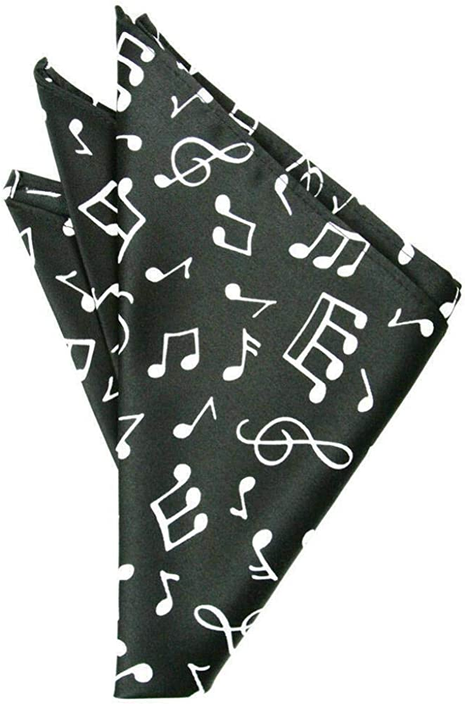 Cardi Music Notes Pocket Square