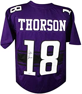Clayton Thorson Autographed Northwestern Custom Football Jersey - BAS COA