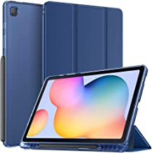 TiMOVO Case for All-New Samsung Galaxy Tab S6 Lite 10.4 Inch 2020 (SM-P610/P615) with Pen Holder, Soft TPU Translucent Tri...