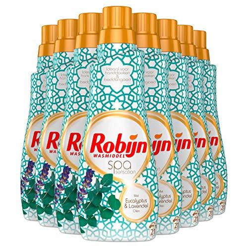 Robijn Klein & Krachtig Spa Sensation Vloeibaar Wasmiddel 8 x 21 wasbeurten - 8 x 735 ml Voordeelverpakking