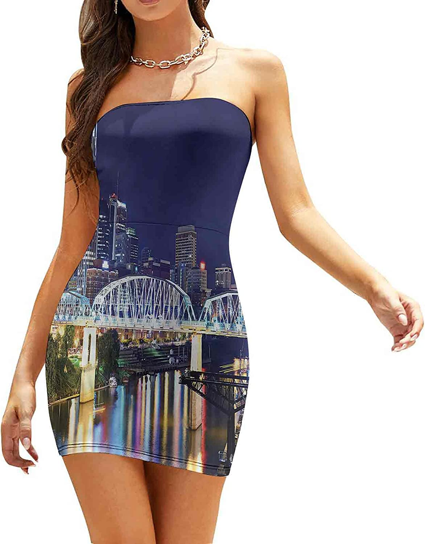 Women's Summer Strapless Dresses Downtown Nashville Tenessee Dresses