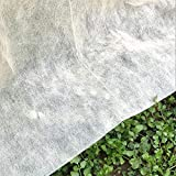LAVZAN 8X25FT 0.5 oz/sq.yd Non-Woven Plant Covers Freeze Protection Reusable Plant Covers for Winter Frost Freeze Protection Covers Anti-UV for Snow Animal Frost Protection (Frame not Include)