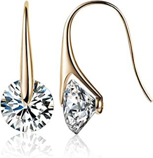 Mestige MSER3196 Women's Gold Plated Crystals Drop and Dangle Earrings