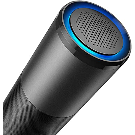 Black E-C2 pro Air Purifier UV Ionizer Chargeable Portable Air Quality Monitor Remove Smoke Odor Kill 99.9/% Germs Quiet for Home Car Office