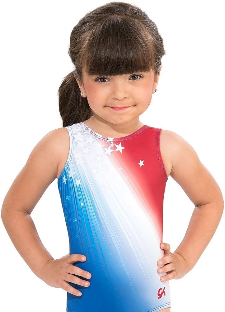 GK Girls Shooting Stars Gymnastics Dance Leotard (AS, Stars & Stripes Flag) : Clothing, Shoes & Jewelry
