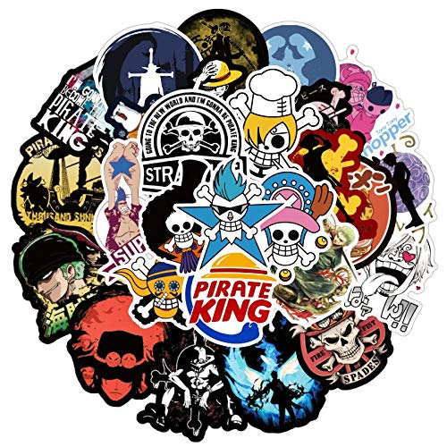 50pcs/pack Japanese anime ONE PIECE Stickers For Skateboard Helmet Gift Box Bicycle Computer Notebook Car Children's Toys Etc
