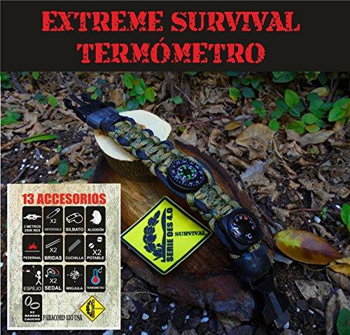 Pulsera Extreme Survival C/TERMÓMETRO