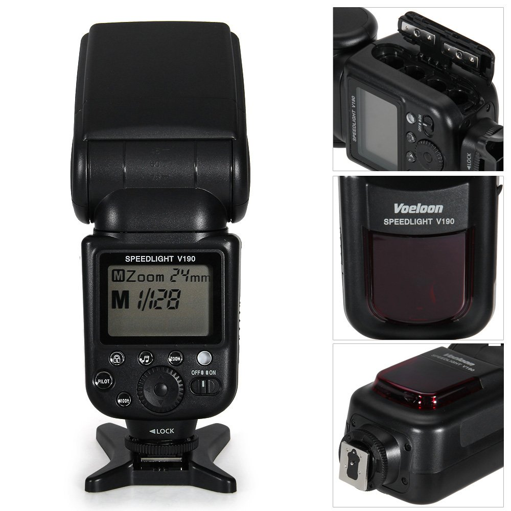 fitTek® Voeloon V190 Professional Speedlite Flash for Canon Nikon ...