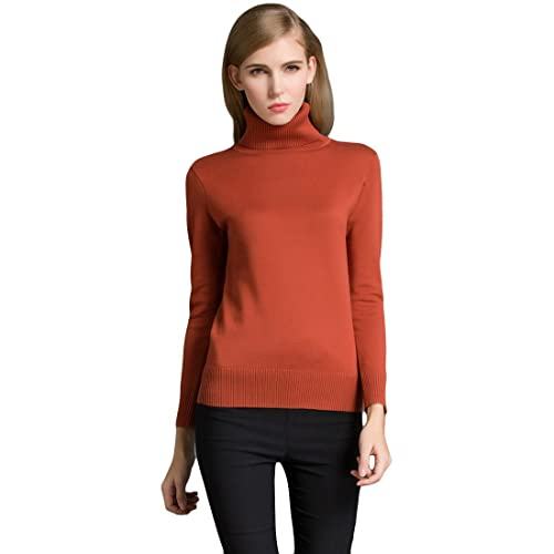 216aa078bb2e6 Romacci Winter Women Sweater Knitwear Turtle Neck Long Sleeves Ribbed  Knitted Pullover Tops