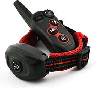 2 in 1 Dog Remote Training Collar & Anti bark Collar, Remote Range 1000-1500ft,Rechargeable - Waterproof Beep, Vibration, Shock Dog Bark Stop Collar for Small, Medium, Large Dogs