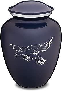 GetUrns Adult Embrace Cobalt Blue Eagle Cremation Urn