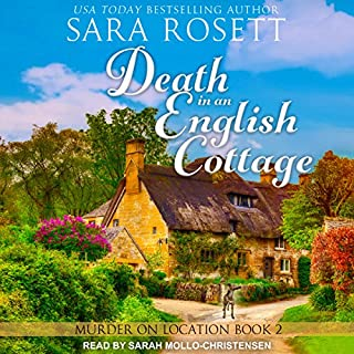 Death in an English Cottage     Murder on Location Series, Book 2              Written by:                                                                                                                                 Sara Rosett                               Narrated by:                                                                                                                                 Sarah Mollo-Christensen                      Length: 6 hrs and 21 mins     1 rating     Overall 5.0