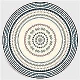 Nicole Knupfer Alfombra redonda con diseño de mandala, estilo vintage, lavable, para salón, dormitorio, baño, cocina, decoración de playa, (E,100 x 100 cm)