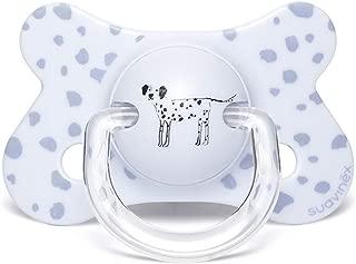 Suavinex 2 Sucettes Anatomiques R/éversibles Good Dog Vert et Blanc 18M