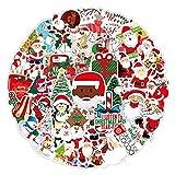 50 PCS Cool Sticker Random Music Film Vinyl Skateboard Guitar Travel Case Sticker Door Laptop Luggage Car Bike Bicycle Stickers for Ornaments Gift Santa Xmas Tree Christmas Festival Holiday (B)