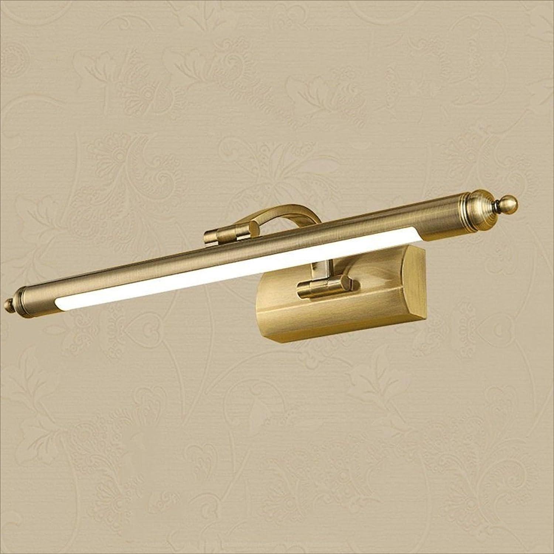 LU-Badezimmer Spiegel Frontleuchten, LED European-Stil Badezimmer Bronze Spiegel Scheinwerfer Bad Spiegel Kabinett Lichter Wasserdichte Make-up Lichter (gre   65cm)