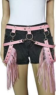 Women Leather Tassel Body Harness Garter Waist Belt Fringe Skirt for Concert Music Festival Dance Party Rave Consume