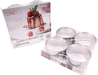 Lares lot de 4 anneaux à dessert plus ausdrückhilfe env. 7,5 cm-pièce