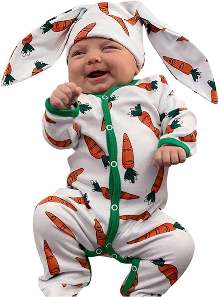 Toddler Baby Boys Girls Clothes Rabbit Ear Bunny Romper Jumpsuit Kids Outfits