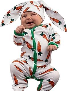 Rolig body till baby. Kanindräkt med overall och mössa med öron.