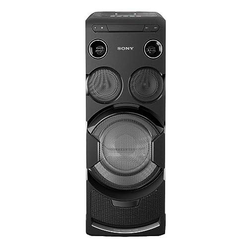 Sony MHCV77DW.CEL - Sistema de Audio (Bluetooth, WiFi, iluminación de Fiesta LED y Efectos de DJ, Resistente a Salpicaduras y Polvo), Negro