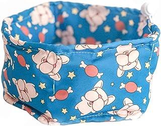 Gobig ペット用冷感首輪 犬用 冷却タオル 軽量 エコ 暑さ対策 クールバンダナ 冷感 熱中症対策グッズ (L, 犬柄ブルー)