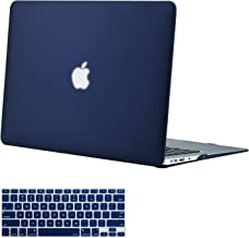 MOSISO MacBook Air 13 Inch Case (Models: A1369 & A1466, Older Version 2010-2017 Release), Plastic Hard Shell Case & Keyboard Cover Skin Only Compatible with MacBook Air 13 Inch, Navy Blue