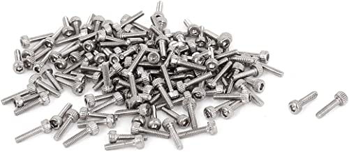 uxcell M1.4x6mm 0.3mm Pitch Hex Key Socket Head Cap Screw Bolts 100pcs