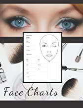 Blank Makeup Oval Face Charts Paper Sheets Logbook to Record Different Techniques & Client's Looks: Accessory Workbook for Practice & Visual Recording ... & Glamour for Young & Mature Woman and Girls)