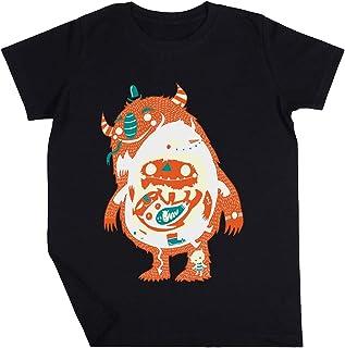 Tú Son Quien Tú ¡Comer! Niño Niña Unisexo Negro Camiseta Manga Corta Kids Black T-Shirt