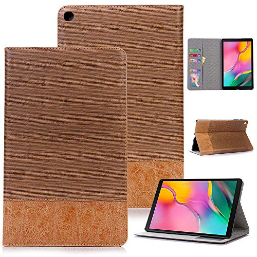 RZL PAD & TAB cases For Samsung Galaxy Tab A 10.1, Shockproof Cover Case Wood Grain Leather Flip Stand Cover For Samsung Galaxy Tab A 10.1 2019 T510 T515 SM-T510 SM-T515 (Color : DBR)