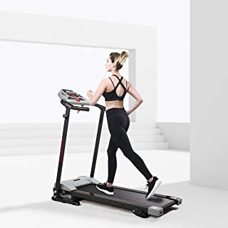 JAXPETY Folding Treadmill 2.0HP Electric Motorized Running Machine w/LCD Display, Ipad and Drink Holder for Home Gym Exercise Walking Fitness