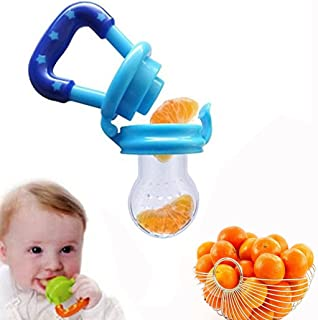 DMZK Chupete de Silicona, Mordedor alimentador de Fruta y Verduras para bebés