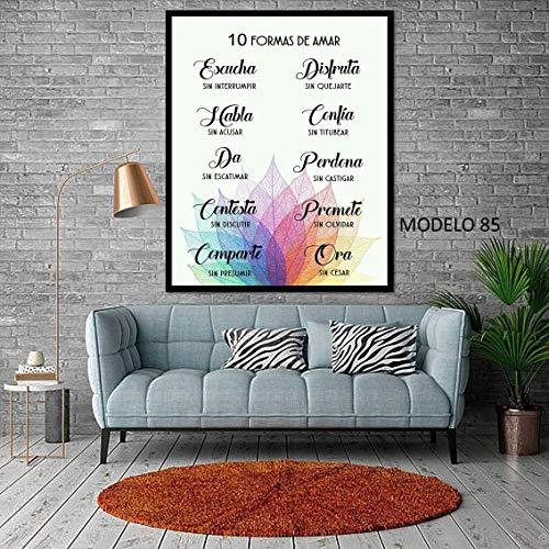 Cuadro decoración moderno personalizado con frase motivadora