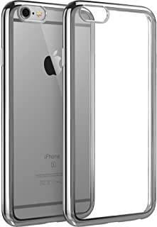 esr iPhone 6 Plus Case/iPhone 6s Plus Case, iPhone 6 Plus Ultra Thin Soft Gel TPU Silicone Case Cover with Electroplate Frame for 5.5 Inches iPhone 6 Plus/6s Plus (Space Grey)