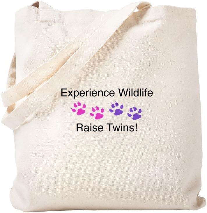 CafePress Experience Wildlife Raise Twins Tote Bag Natural Canvas Tote Bag, Reusable Shopping Bag