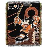 The Northwest Company NHL Philadelphia Flyers Disney & NHL Woven Tapestry Throw Blanket, 48' x 60' , Orange