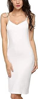 Women Full Slips Cotton Blend V Neck Straight Dress Nightwear