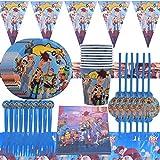 WENTS Vajilla Diseño de Toy Story Desechable Accesorio de Decoración de Fiesta de Cumple...