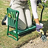 Garden Folding Kneeler Seat Chair Pad Stool Steel Frame Tool