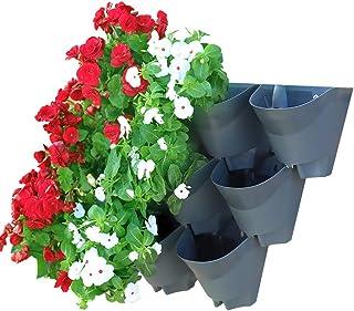 Worth Garden 3 Conjuntos 9 Bolsillos Jardin Vertical Pared Maceta de Flores Hogar/Interior/Exterior/Balcón/Terraza Decoración Maceta Vertical para Riego Automático Goteo