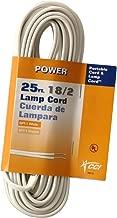 Coleman Cable 09410-89-51 18/2 Bulk Lamp Cord, 13-Amp 125-Volt 25-Feet, White