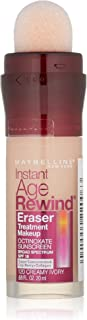 Maybelline New York Instant Age Rewind Eraser Treatment Makeup, Creamy Ivory [120] 0.68 oz (Pack of 2)
