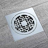 PLJHWW - Scarico da pavimento a prova di odore, insetto-prova e anti-ritorno per acqua bagno in rame cromato scarico e scarico del pavimento