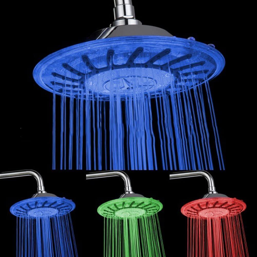 YTREDF Baño Cabezal De Ducha Led De 3 Colores Que Cambia El Sensor De Temperatura De Luz Azul/Verde/Rojo del BañO De Agua Sensor De Temperatura De BañO Cabezal De Ducha