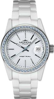 Mondia Mistral Ceramic Womens Analog Japanese Quartz Watch with Ceramic Bracelet MI737C-2BC