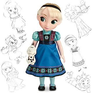 """Frozen Disney Animators Collection Elsa 16"""" Doll with Olaf"""