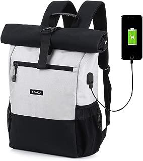 Lixada Roll Top Laptop Backpack Lightweight RollTop Daypack Multipurpose Fashion School Travel Cycling Rucksack Bag 18L-26L