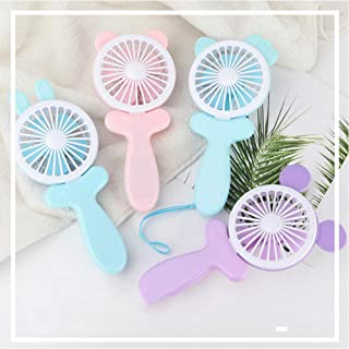 Wbzyj Hold Fans Mini- Charge Will Wind Power Desktop Más Funciones Ventiladores pequeños USB Originalidad Mini- Hand Take Fans-Mickey_Purple