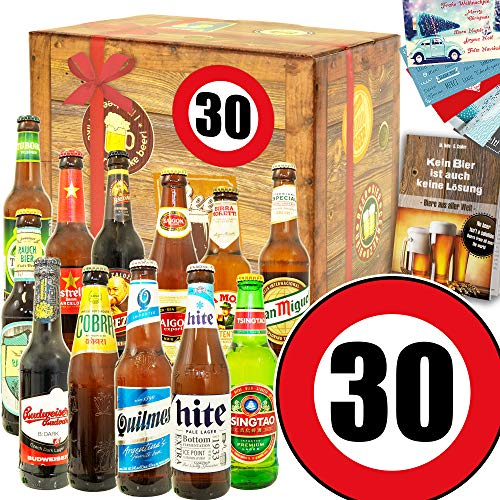 Ideen zum 30. für Männer - Zum 30 Geburtstag für Männer - Bier Paket Welt